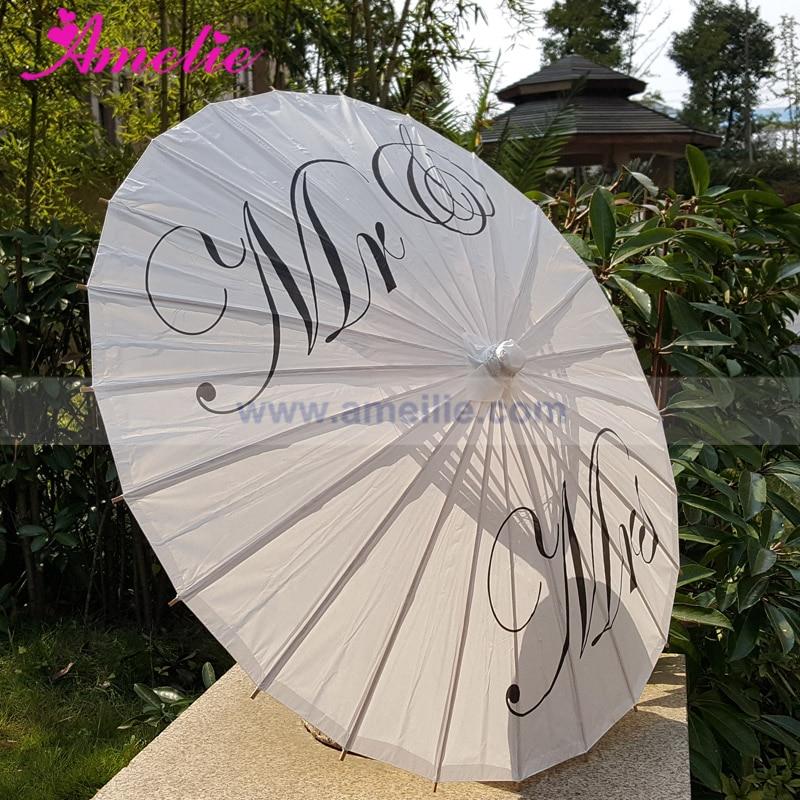 Image 4 - Free Shipping Wedding Personalized Custom Mr and Mrs Parasol Printed Bride Paper Wedding Umbrella Photo Prop Ceremonylace goldlace duvetlace veil -