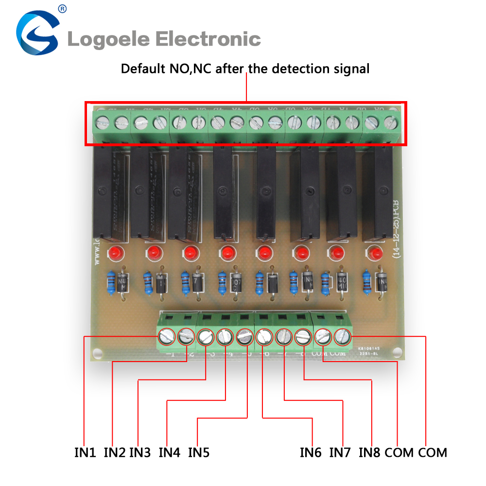 OEG 8-Channel Relay Socket Eight Panels Driver Boards DC 24V NPN