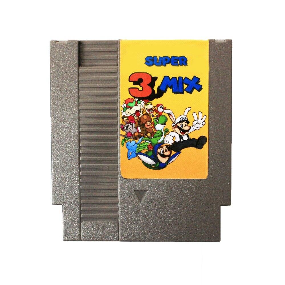 Gran oferta Super Mro 3 Mix 72 pines cartucho 8 Bit tarjeta de juego