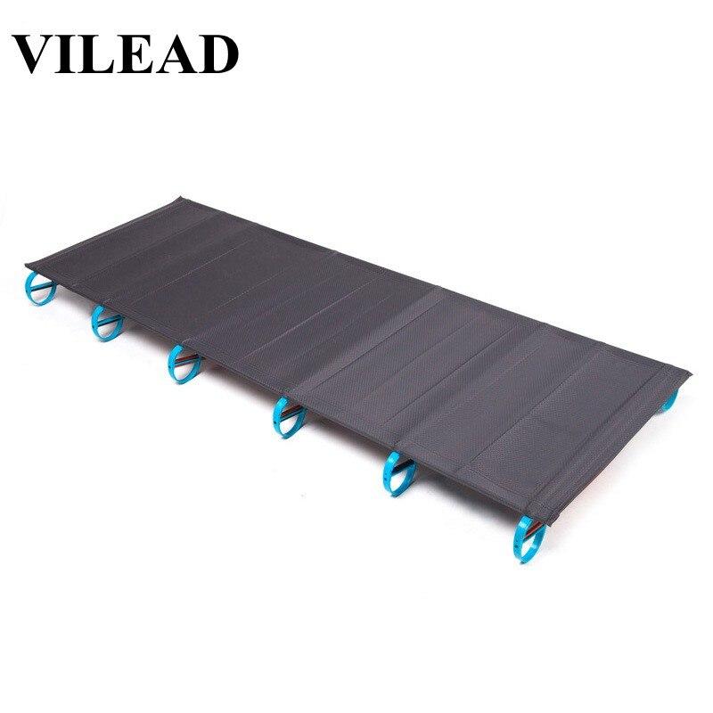 VILEAD сверхлегкие складные кемпинговые кроватки 180*58 см кровать алюминиевая удобная портативная водонепроницаемая для самостоятельного вож...