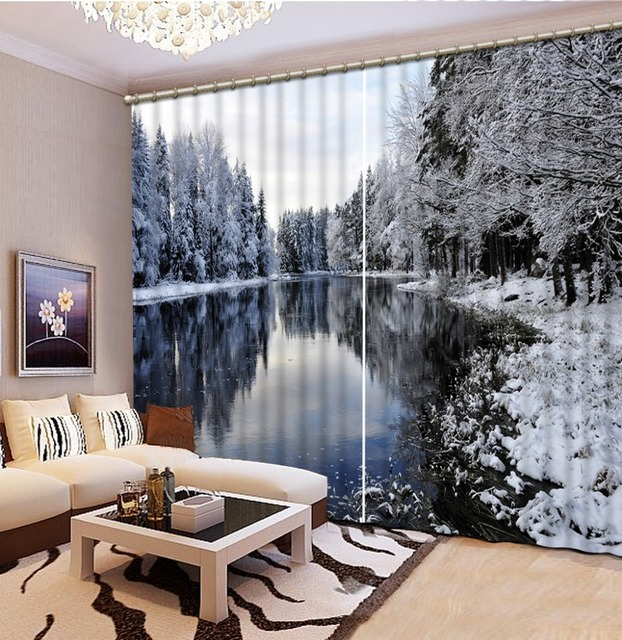 Kitchen Window 3d Curtains Customize For The Living Room Aesthetic Winter Modern Bedroom