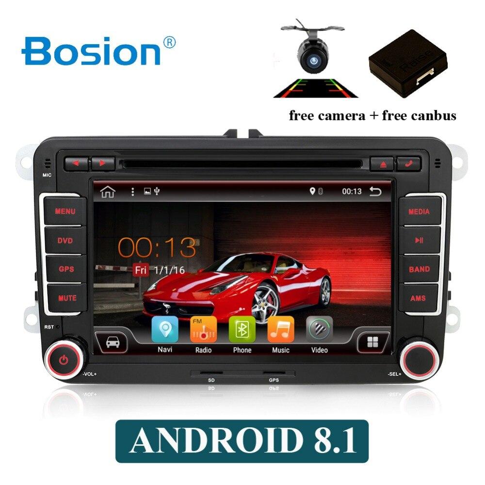 Lecteur multimédia de voiture Octa core 2 Din Android 8.1 DVD de voiture pour Volkswagen/Golf/Polo/Tiguan/Passat/b7/b6/SEAT/leon/Skoda/Octavia