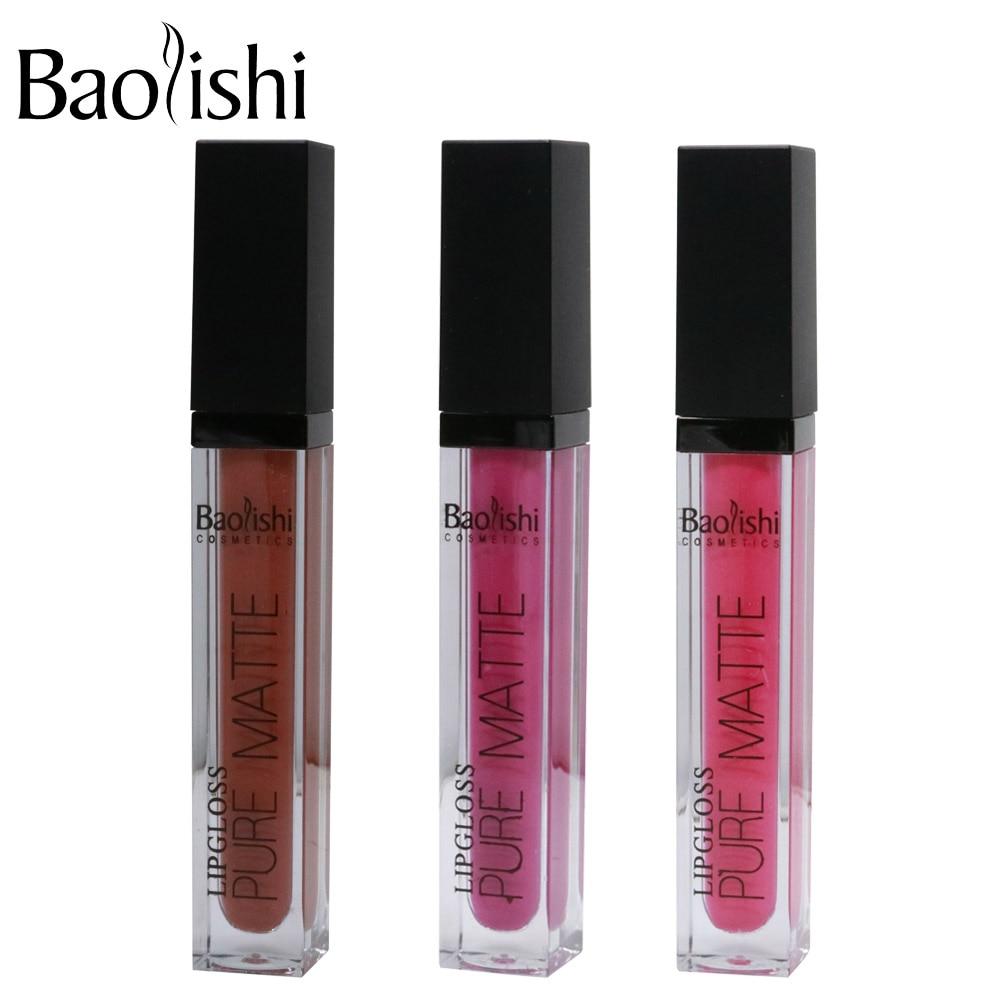 baolishi Antihaft-Tasse matt Lipgloss Wasserdicht Farbton Nude - Make-up - Foto 5