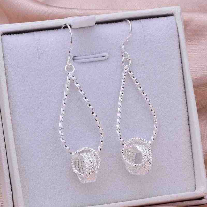 silver plated Earrings ornaments For women Fashion Tennis Earrings Jewellery mens ,Wholesale&Free shipping, SMTE281