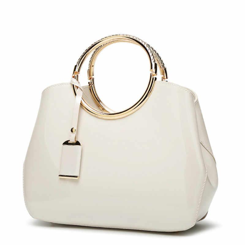 Luxury Handbags Women Bags Designer Bride Red White Tote Bag 2019 Summer Leather Fashion Messenger Shoulder Sac A Main Femme