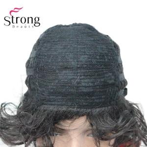Image 5 - Strongbeauty 짧은 푹신한 계층화 된 곱슬 검은 전체 합성 가발 여성을위한