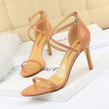 woman shoes high heels sandalias mujer 2019 clear Fashion Summer Cross Sexy Night Club luxury women designers