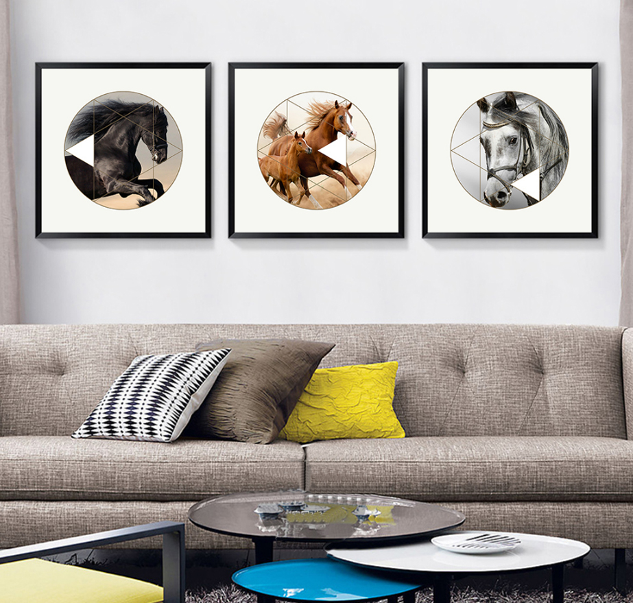Modern Horse Animals Canvas Painting Nordic Poster Prints Pop Wall Pictures for Living Room Home Decor unframed Drop Shipping