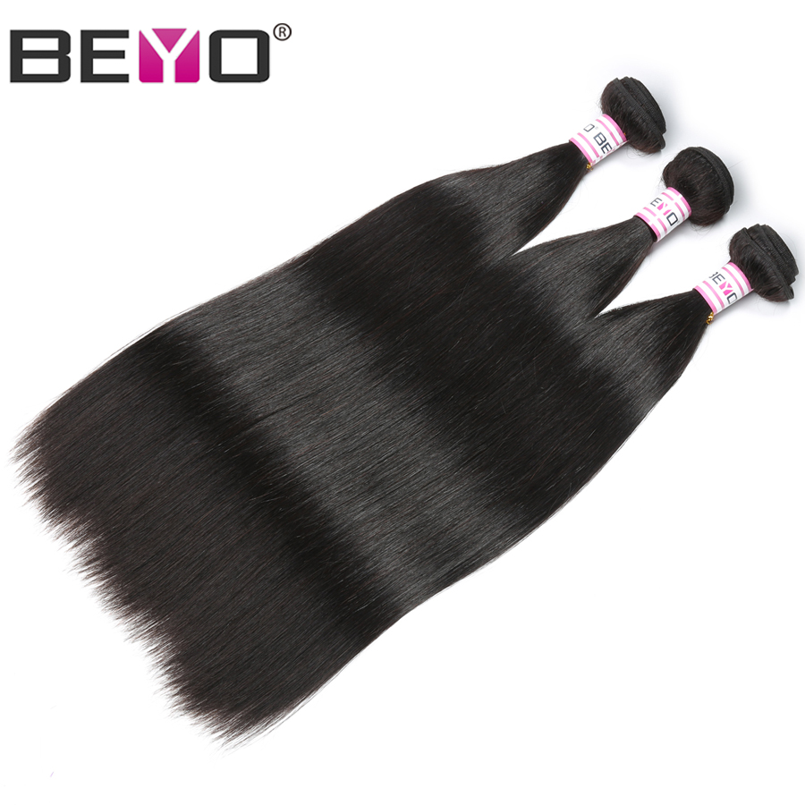 Beyo Malaysian Straight Hair Bundles Natural Black 1B 3bundles/Lot 8-28inch 100% Human Hair Extensions Non Remy Hair Can Be Dyed