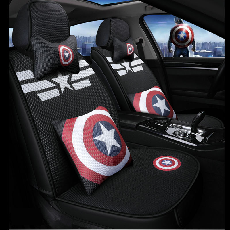 cartoon marvel car seat covers captain america venom auto cushion chair protector universal for alfa romeo