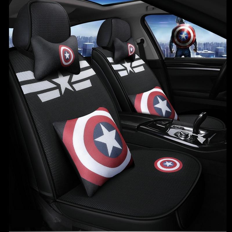 cartoon marvel car seat covers captain america venom auto cushion chair protector universal for alfa romeo mazda 6 polo audi a3-in Automobiles Seat Covers from Automobiles & Motorcycles    1