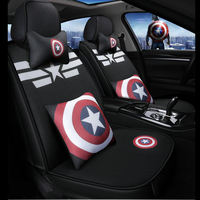 cartoon marvel car seat covers captain america venom auto cushion chair protector universal for alfa romeo mazda 6 polo audi a3