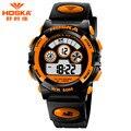 Мода HOSKA Часовой Бренд Мужчин Из дверей Спортивные Часы Класса Люкс 50 м Водонепроницаемый Повседневная Цифровые Часы многофункциональный часы