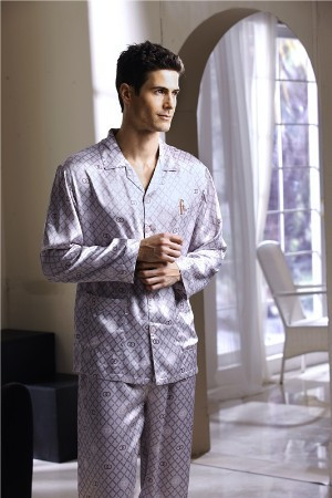 lounge Men silky long-sleeve set s3009