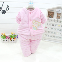Baby Clothing Sets Autumn And Winter Baby Parkas Sets 2015 Kids 2pcs Shirt Pants Sets Boys
