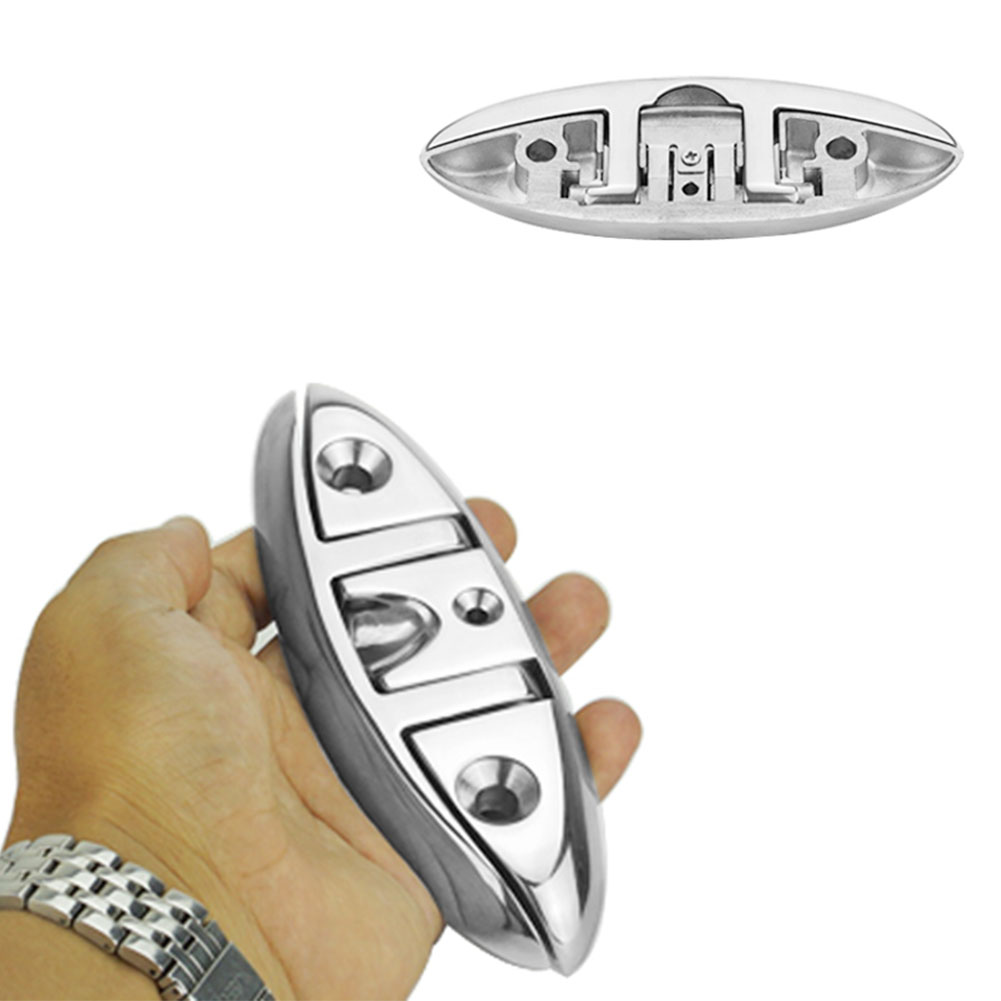 """1pc 5/"""" Stainless Steel Folding Cleat Flip-up Dock Cleat Boat Marine Hardware"""