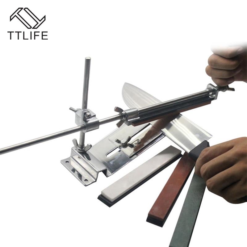 TTLIFE Kitchen Knife Sharpener Tools Professional Sharpening Knife Sharpener System Fix angle Knife Sharpener with 4