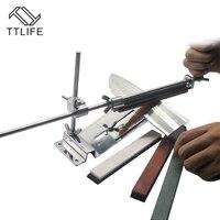 TTLIFE Kitchen Knife Sharpener Tools Professional Sharpening Knife Sharpener System Fix angle Knife Sharpener with 4 Stones