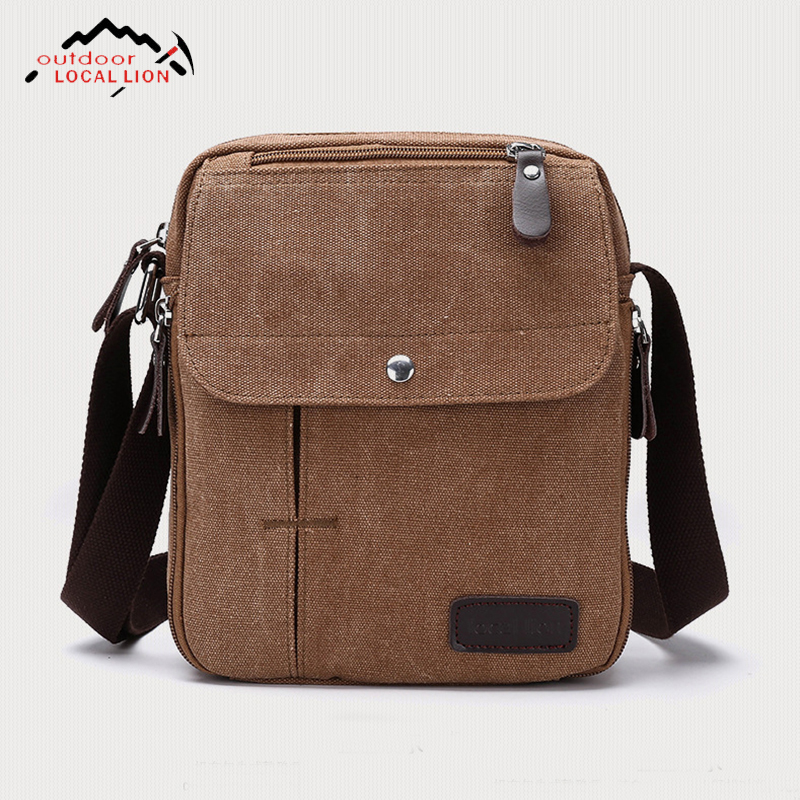 Outdoor Local Lion 2018 New Mens Handbag Crossbody Messenger Shoulder Canvas Simple Dail ...