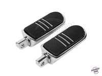 Chrome Motorcycle Footpeg Foot peg Foot Rest case for Harley Indian Chief Dyna Touring Softail Sportster 883 1200 V Rod