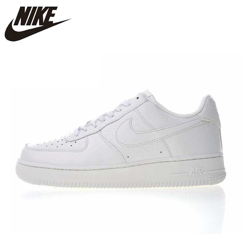 Original Authentic Nike Air Force 1 07 LV8 White Croc Men's