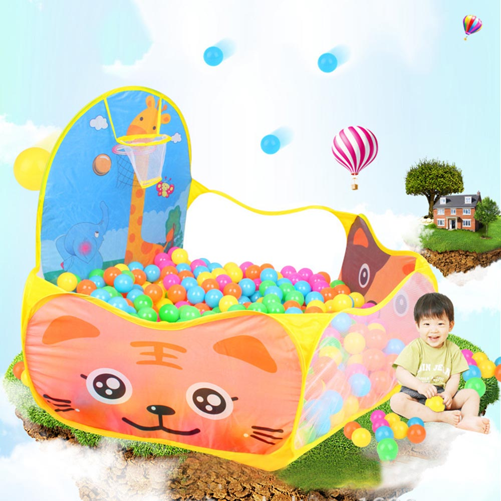 Foldable Cartoon Outdoor Sports Playground Kids Children Ocean Ball Pit Pool Baby Tent Ball Basket Gaming Toys Educational Toy children cartoon animals hanging outdoor basket toys