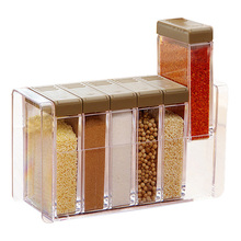 kitchen Seasoning Box Plastic Spice Jar With Lid Can Sugar Organizer Box