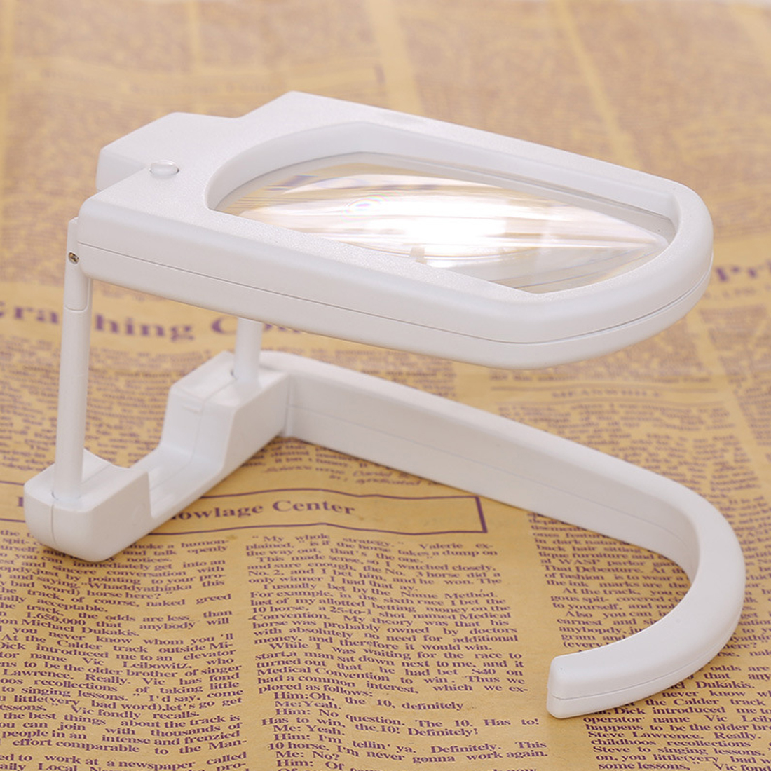 Top Multifunctional Magnifier Foldable Loupe Microscope With Light Magnifying Tool Portable Magnifying Glass 3X Magnification