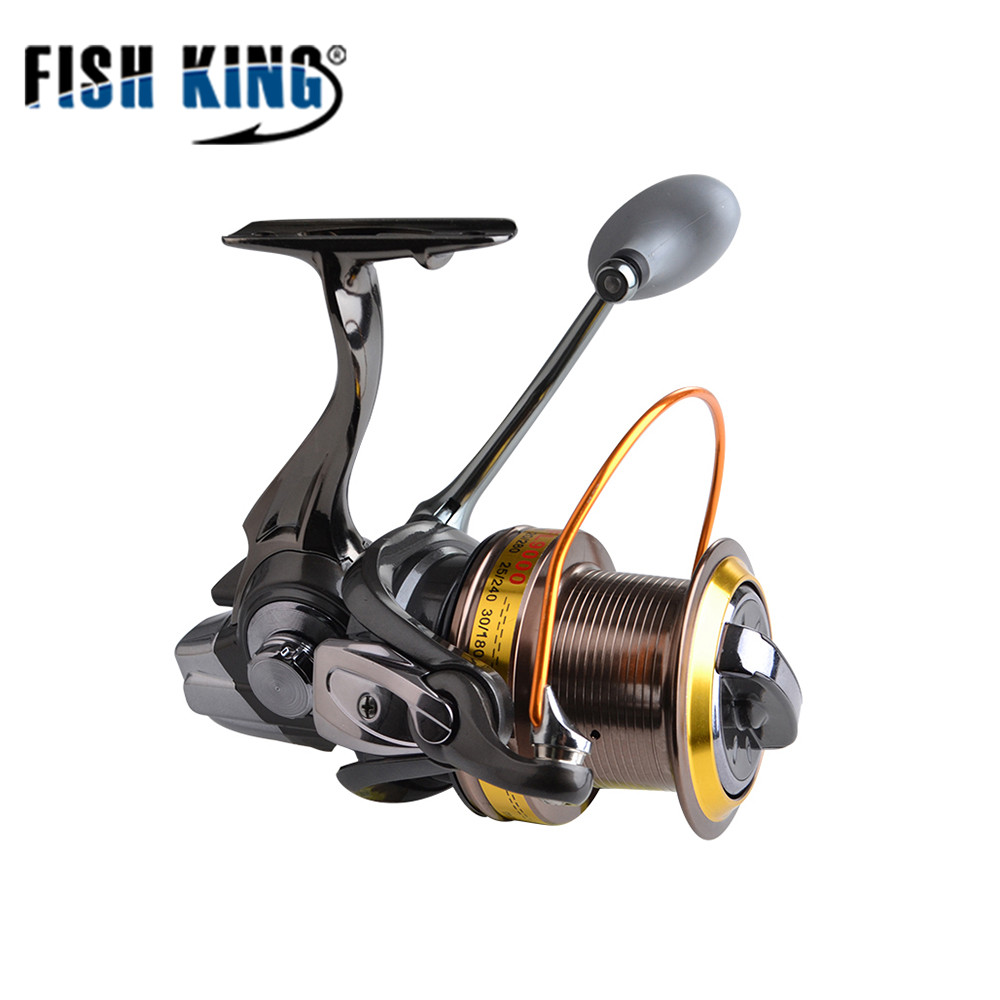 FISH KING FL Spinning Reel 8000 9000 10000 Series 4.6:1 12+1 Max Drag Freshwater Spinning Fishing Reel