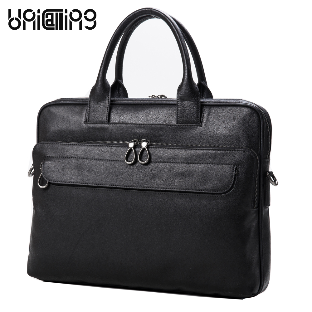 UniCalling men bag genuine leather laptop bag for men new design stylish brand men bag cross body shoulder bag unicalling denim
