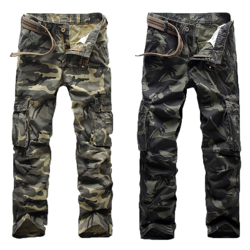 2017 Male Casual Pants Camouflage Pants Men Crotch Cotton Pant High Quality Trousers Military Sweatpants Clothing