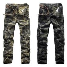 2017 männlichen Casual Hosen Camouflage Hose Männer Gabelung Baumwolle Hose Hohe Qualität Hosen Military Jogginghose Kleidung Kostenloser Versand