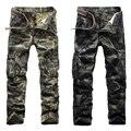 HOT Primavera Outono Sportswear Calças 2017 Calças de Camuflagem Moda Homens Do Exército Calças Virilha Calças de Algodão de Alta Qualidade