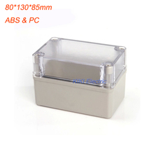 Free shipping Electirc Waterproof Transparent Cover ABS Body Enclosure Switch/Distribution Box 80*130*85mm DS-AT-0813-1 most popular waterproof enclosure portable distribution box electrical boxes power distribution box sp at 302016