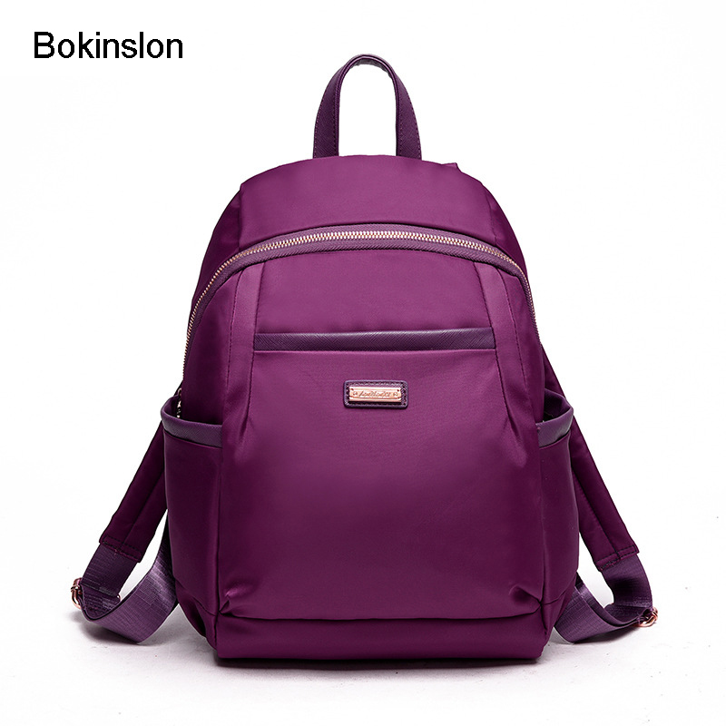 Bokinslon Backpack For Woman nylon College Wind Female Shoulders Bags Popular Fashion Women Backpacks
