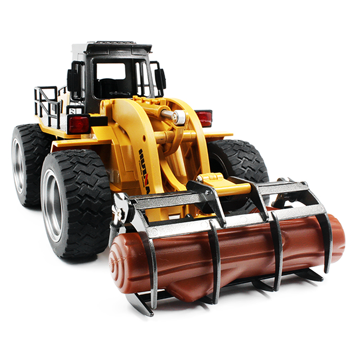 HUINA TOYS 1590 1:18 2.4GHz 6CH RC Alloy Timber Grab Truck RTR Grasper Opening Closing / Movable Arm / Mechanical Sound Kids Toy
