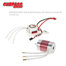 SURPASSHOBBY Platinum Waterproof Series 3650 3900KV 4300KV 5200KV 4 Poles Senseless Brushless Motor 60A ESC for 1/10 RC Car Boat raceflight spark micro 4 in 1 60a esc