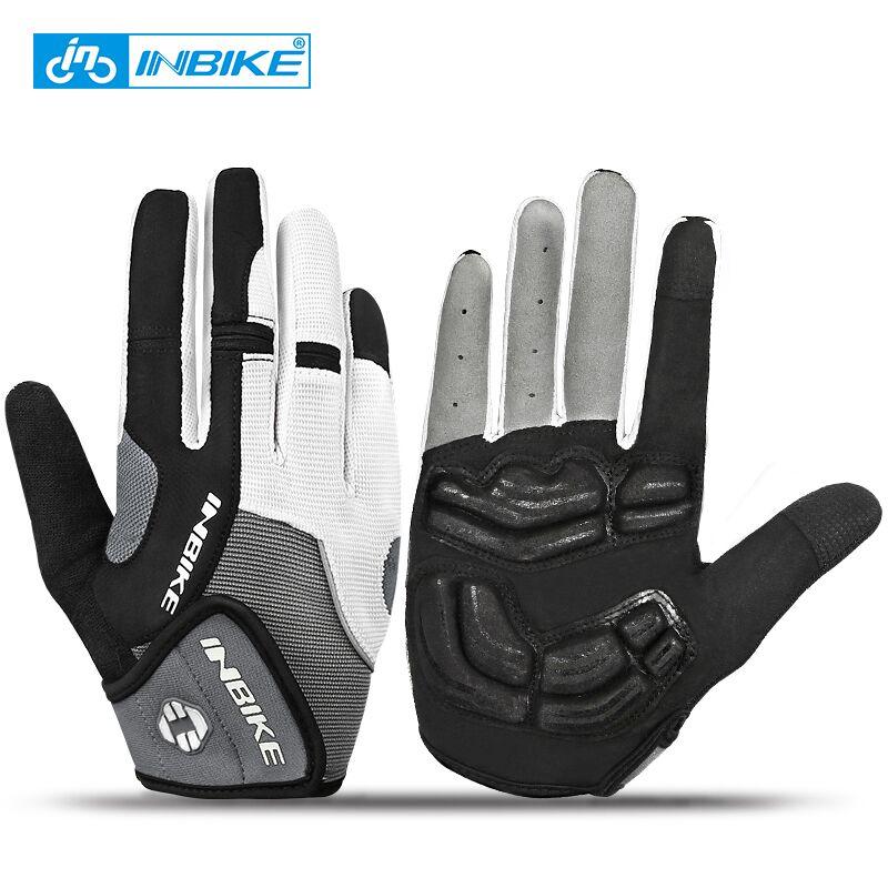 INBIKE <font><b>Full</b></font> <font><b>Finger</b></font> Touch Screen <font><b>Cycling</b></font> <font><b>Gloves</b></font> MTB Bike Bicycle <font><b>Gloves</b></font> GEL Padded Outdoor Sport Fitness <font><b>Gloves</b></font> Bike Accessories