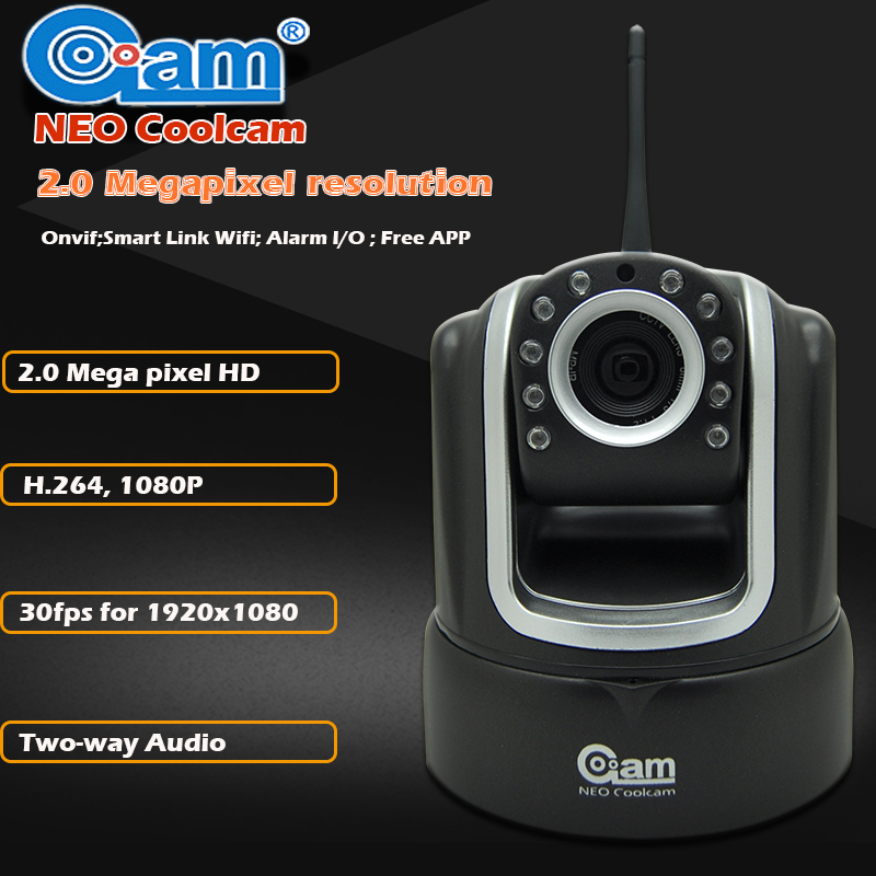 NEO Coolcam Wireless Security 1080P 2.0 MegaPixels IP Camera IR-Cut Night Vision Audio Recording Surveillance Network Indoor neo coolcam nip 02oao wireless ip camera network ir night vision cctv video security surveillance cam support iphone android