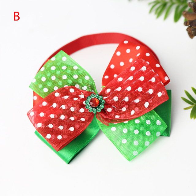 Bow Loverly Bowknot Dog Ties Cute Pet Dog For Puppy Dogs Accessories With Rubber Bands Cute Pet Headwear Grooming 5