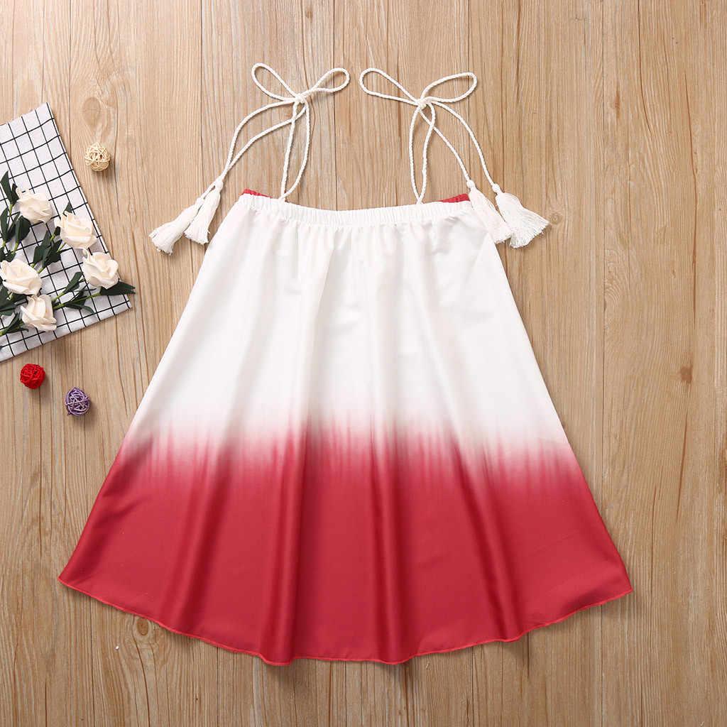 Gradiente de verão Meninas Vestidos Sem Mangas Splice Kid Vestido de Festa para meninas Vestido de Princesa Encabeça Roupas Infantis Vestidos de princ