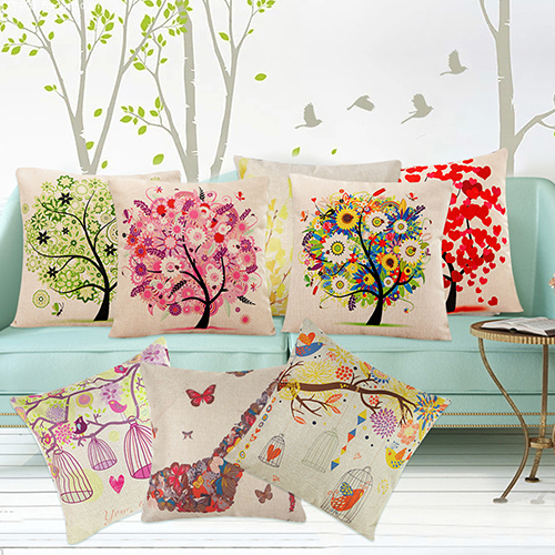 Venta caliente de La Manera Cuadrado de Lino Throw Pillow Case Cojín Home Sofá Decoración BI8G