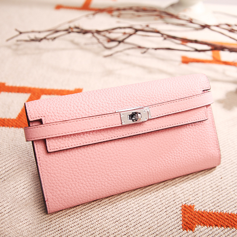 Y014 New Fashion European and American Women Bag Wallets & Holders lychee grain Platinum Top Layer Leather ladies Wallet Bag european and american 2017 new lychee grain 100