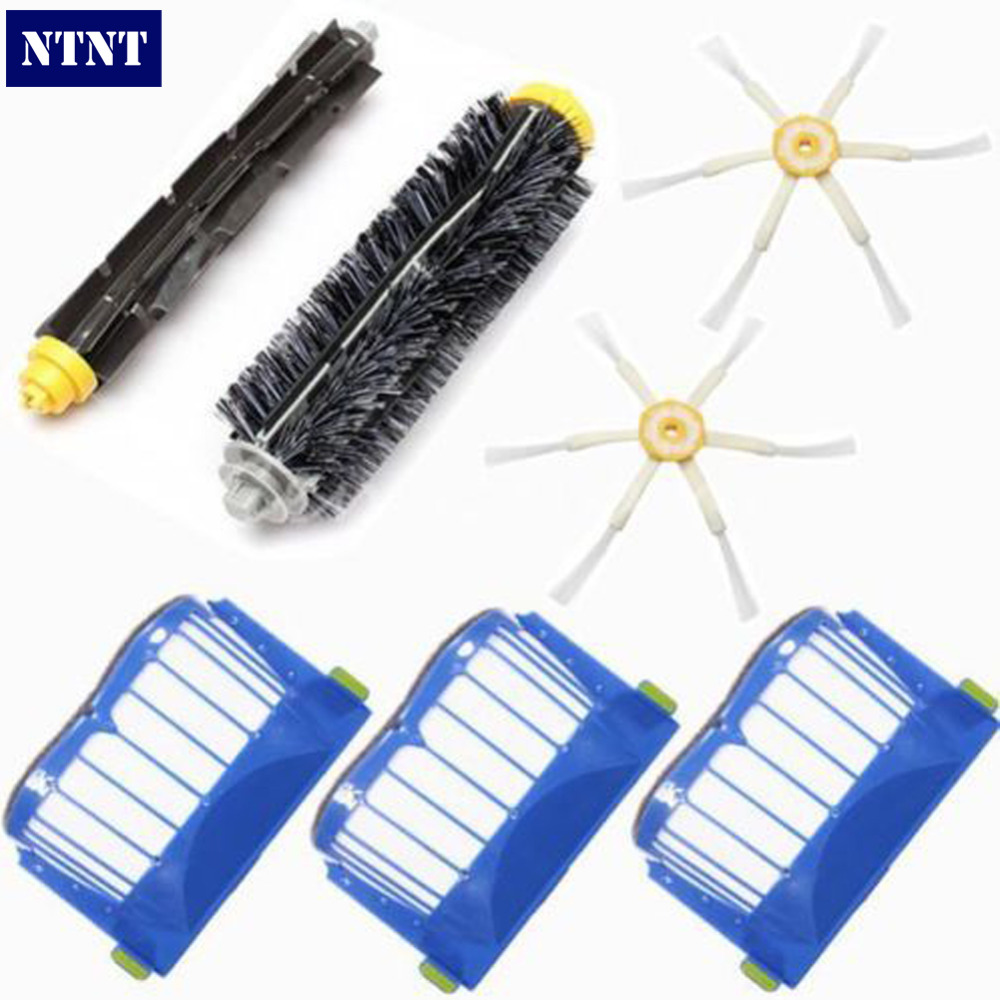 NTNT Free Post New Aero Vac Filters + 6-Armed Brush for iRobot Roomba 600 Series 620 630 650 660 free post new aero vac filter brush 3 armed tool for irobot roomba 600 series 620 630 650