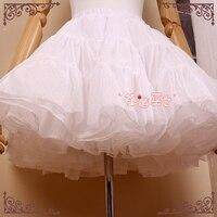 Morango Bruxa Curto Pettiskirt Venda Quente Uma linha Em Camadas Lolita Petticoat Frete Grátis