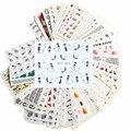 50 листов Nail Art Water Transfer Наклейки Смешанные Конструкции Красоты Цветок Водяной Знак на ногтях советы Переводные Картинки Обертывания Nail Art Инструменты M50