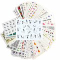 50sheets Nail Art Water Transfer Stickers Mixed Designs Beauty Flower Watermark on nails tips Decals Wraps Nail Art Tools M50