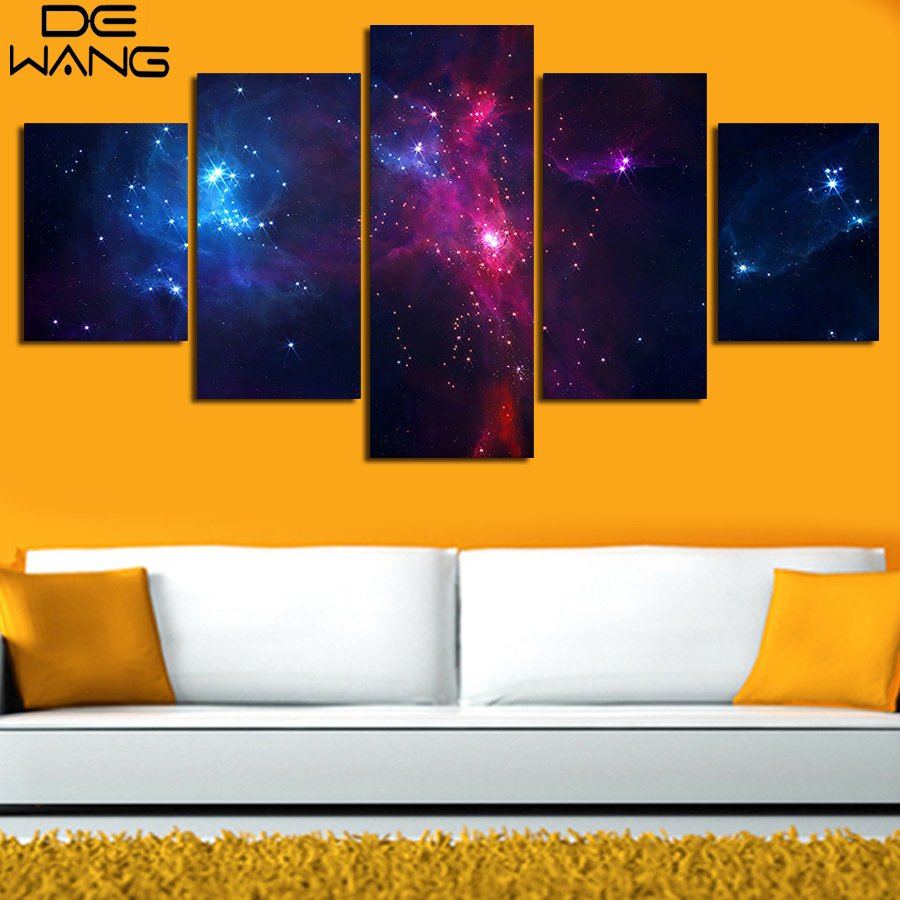 5 Piece/Set Canvas Art Painting Galaxy Planet Universe Painting ...