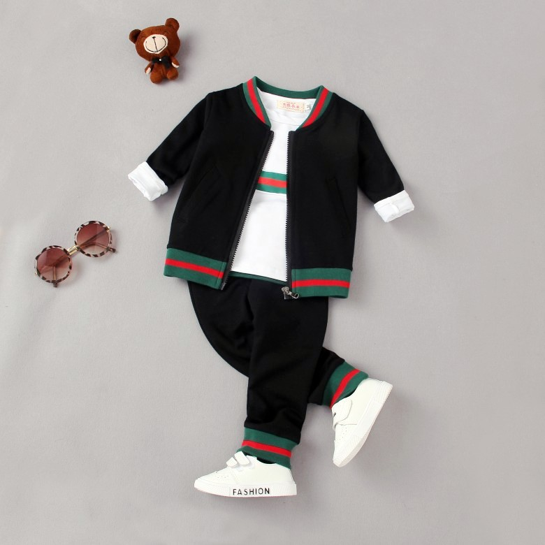 EMS DHL Free Shipping 3pc NEW Autumn outfit Baby Boys Clothes Children's Clothing Jacket +T Shirt + Pants Children Clothing new original qy80 qy80 ts qy80 7s with free dhl ems