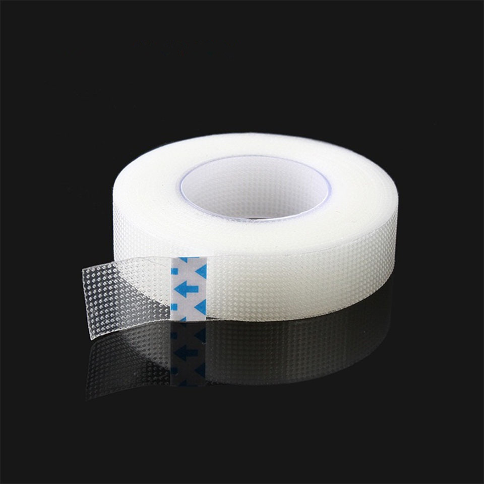 1 Roll Eyelash Tapes Eyelash Extension Paper Medical PE Non woven Breathable Tape Eyelash Under Pads Tapes Makeup Tools in False Eyelashes from Beauty Health